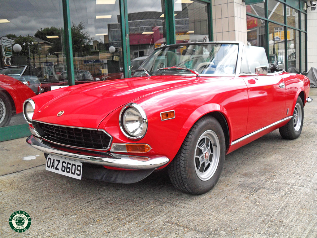 1981 fiat 124 spider for sale chelsea cars. Black Bedroom Furniture Sets. Home Design Ideas